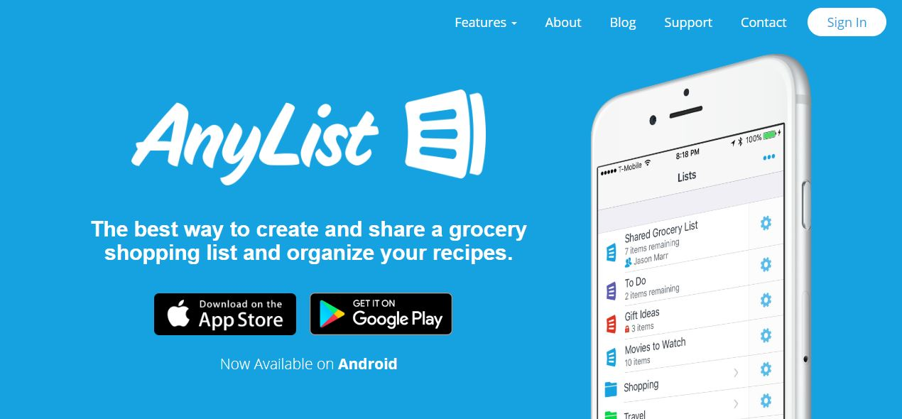AnyList, AnyList App, AnyList App Review