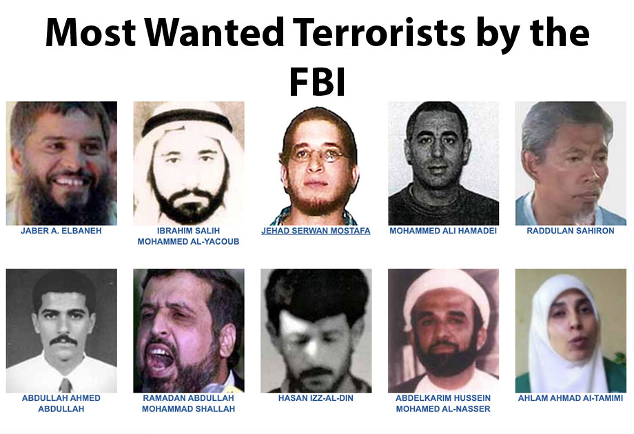 Most Wanted Terrorists, FBI Most Wanted Terrorists