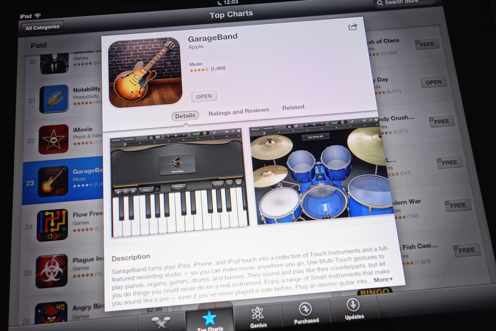 Mac Keyboard, GarageBand, GarageBand Piano