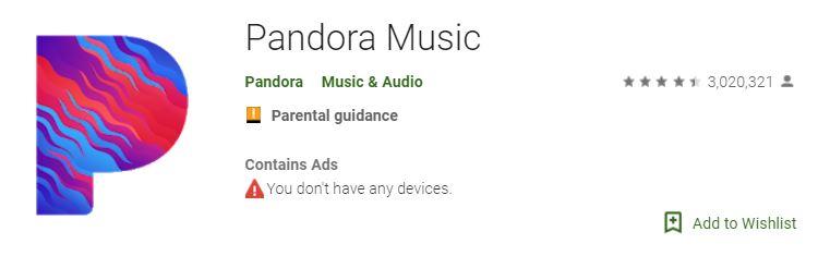 Pandora, Pandora Music App, Pandora Free Music App