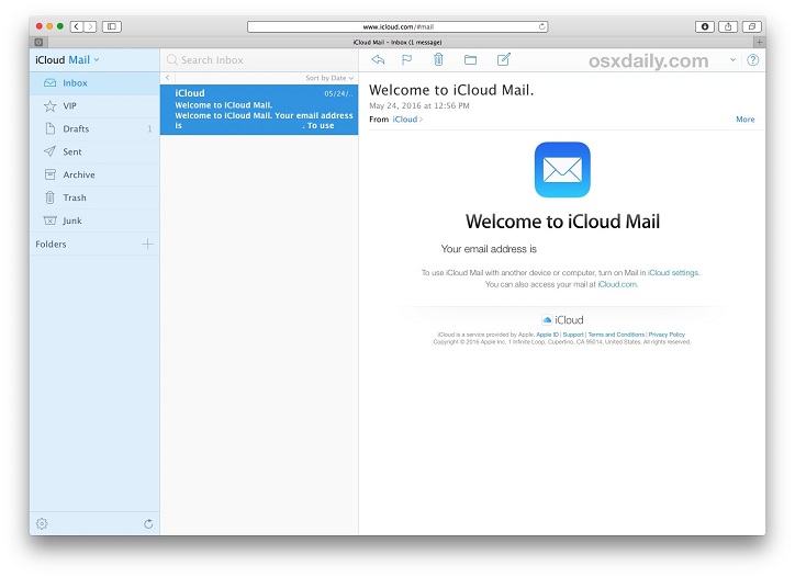 Check iCloud Mail