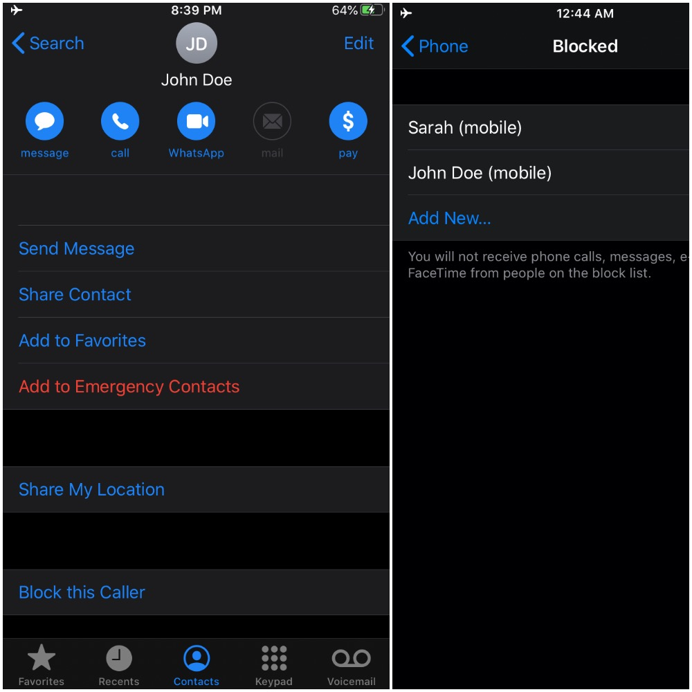 how to blacklist a phone number on android