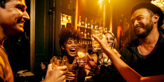 dating tips after long-term relationships - friends drinking at a bar