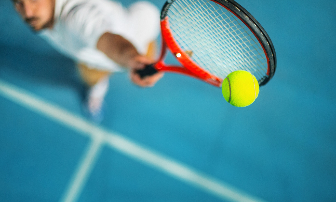 how to relax using sport tennis