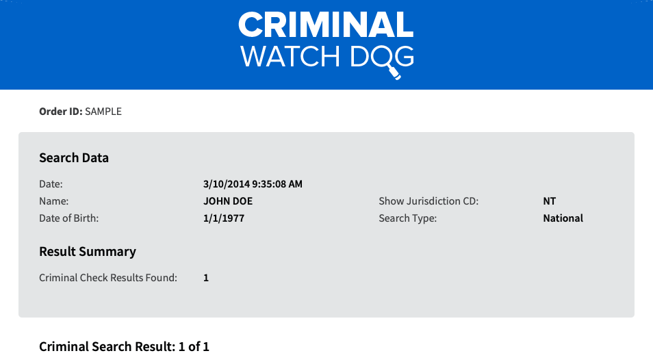 Criminal Watch Dog Review