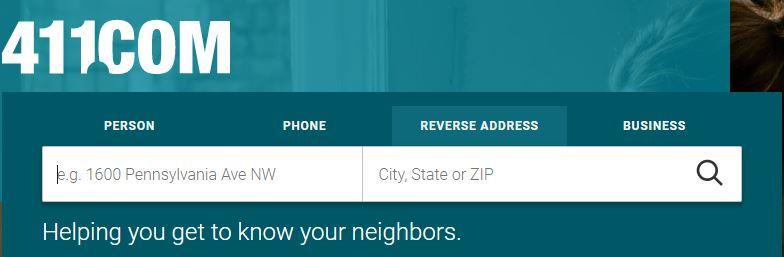 411.com address search