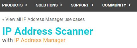 SolarWinds IP Address Scanner