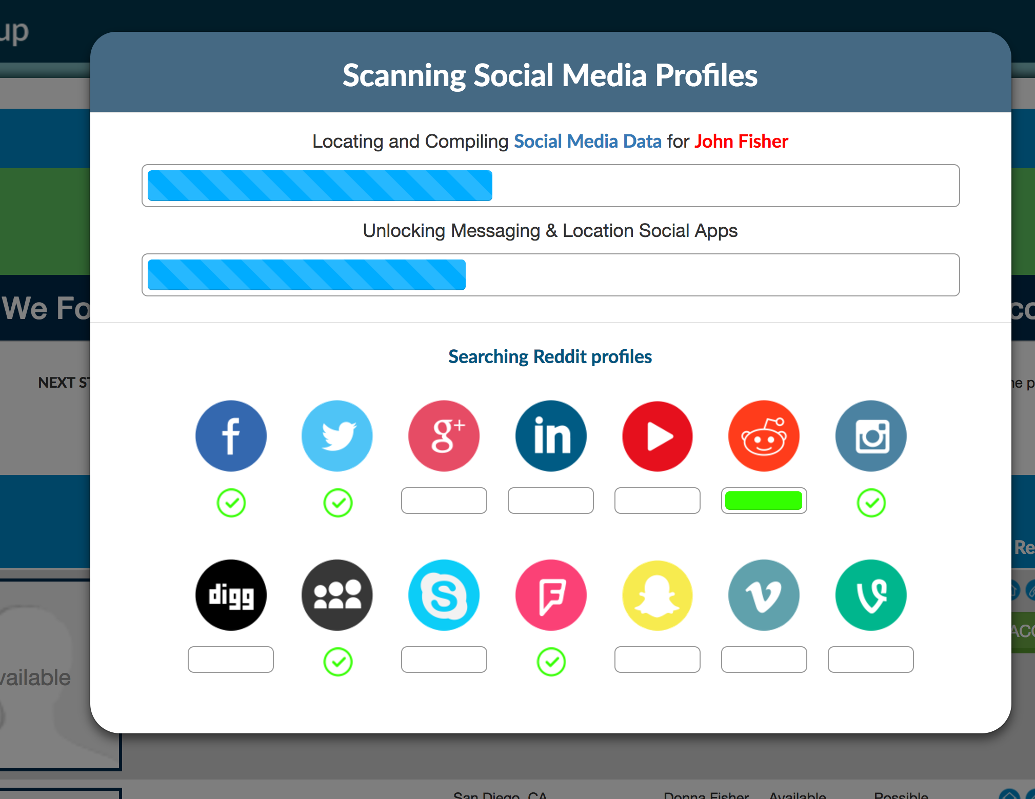 background check social