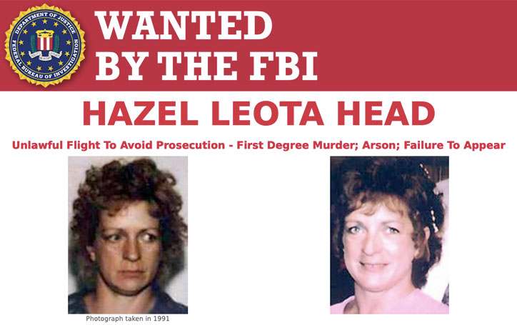 Most Wanted Fugitives by the FBI Hazel Head most wanted FBI