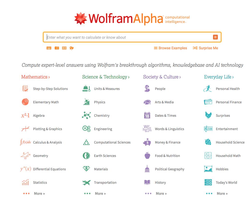 wolfarm alpha search engine