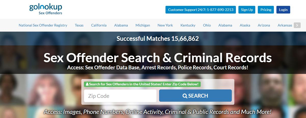 sex offender search online