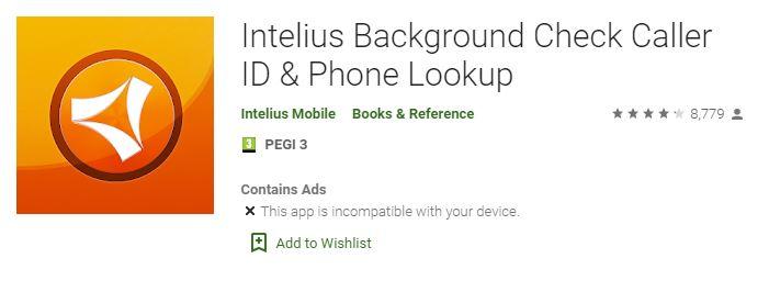 Intelius App