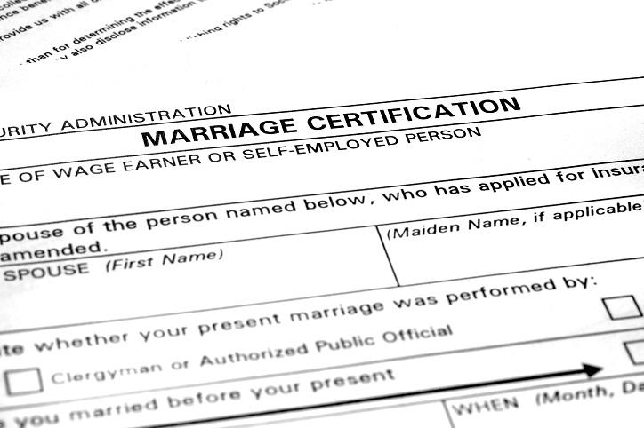 South Carolina Marriage License