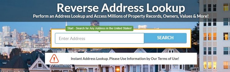 how to find ex reverse address lookup