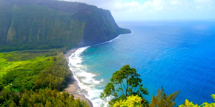 famous beaches in the world - Waipio Valley Beach, Big Island, Hawaii