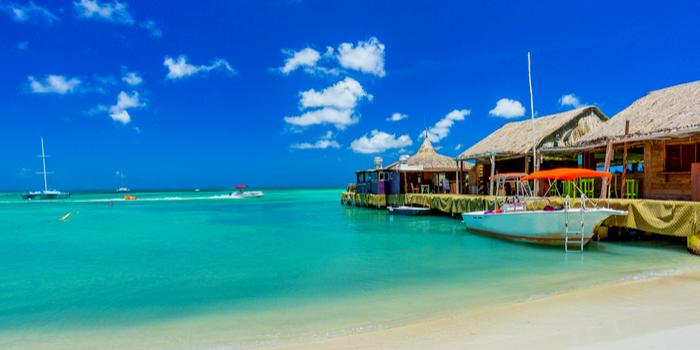 famous beaches in the world  - Palm Beach, Aruba