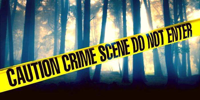ribbon across a crime scene