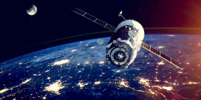 Facts about the space program - a satellite orbiting earth