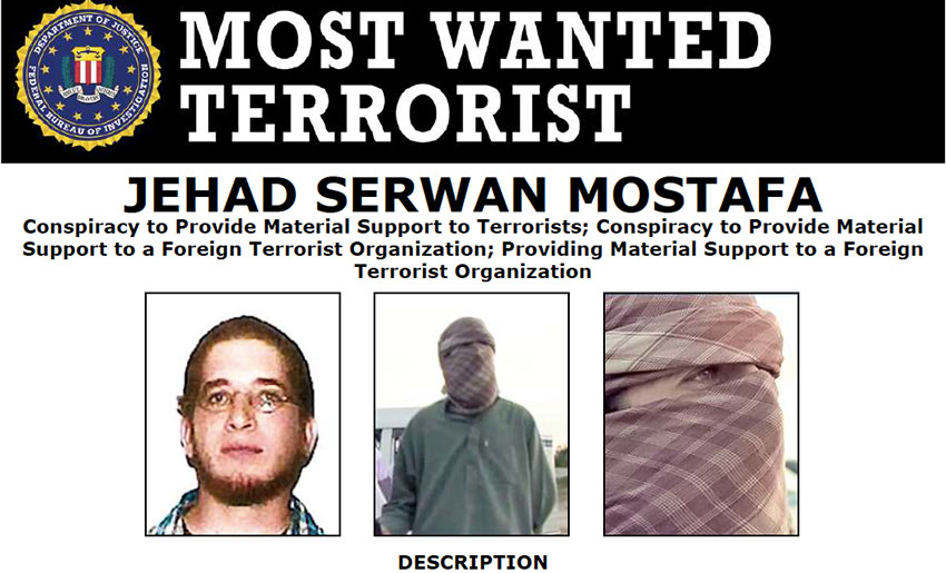 Most Wanted Terrorists by the FBI jehad serwan mostafa