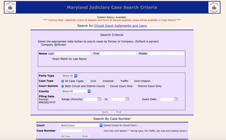 arrest records Maryland