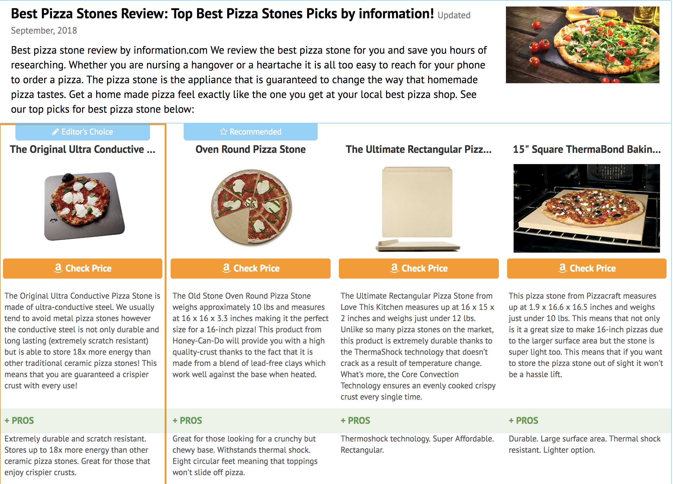 best pizza stone review