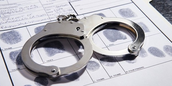 handcuffs on an arrest record