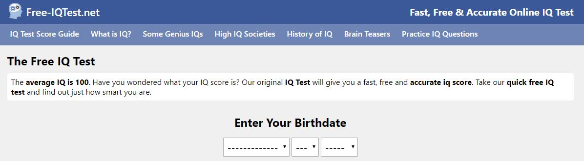 Free-IQTest.net