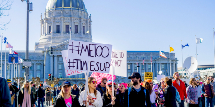 sexual abuse in Hollywood - a MeToo protest