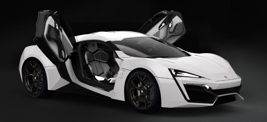 most expensive car in the world W Motors Lykan Hypersport