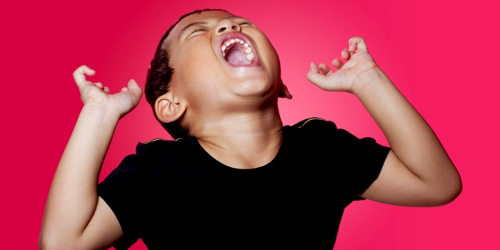 a kid having a tantrum