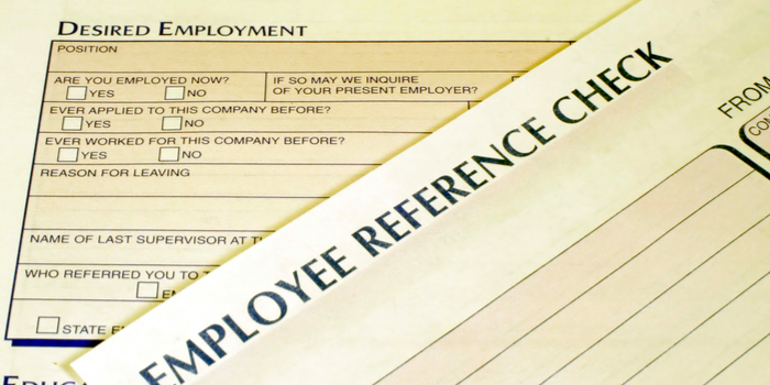 employee background check - an employee reference check form
