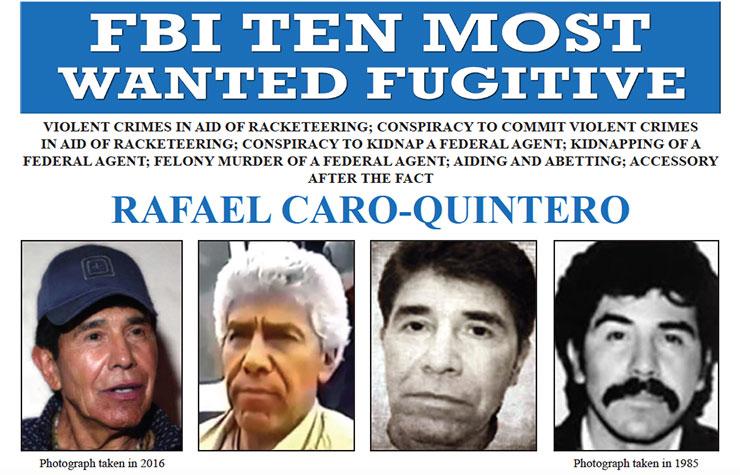 FBI Most Wanted Rafael Caro-Quintero