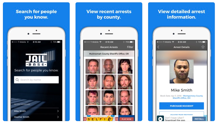IOS Arrest Records Apps