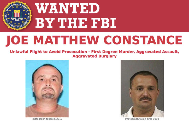 Most Wanted Fugitives by the FBI Joe Matthew Constance