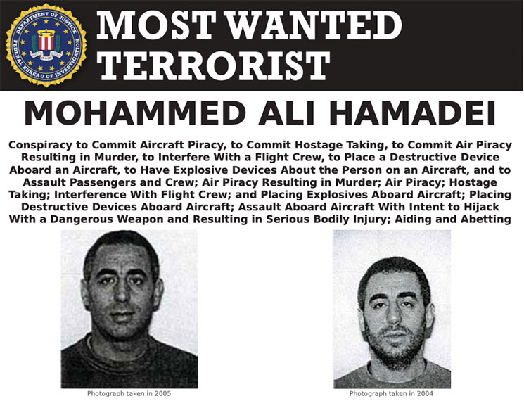 Most Wanted Terrorists by the FBI mohammed ali hamadei