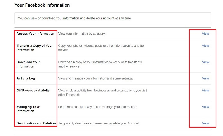 How to View Your Facebook Data
