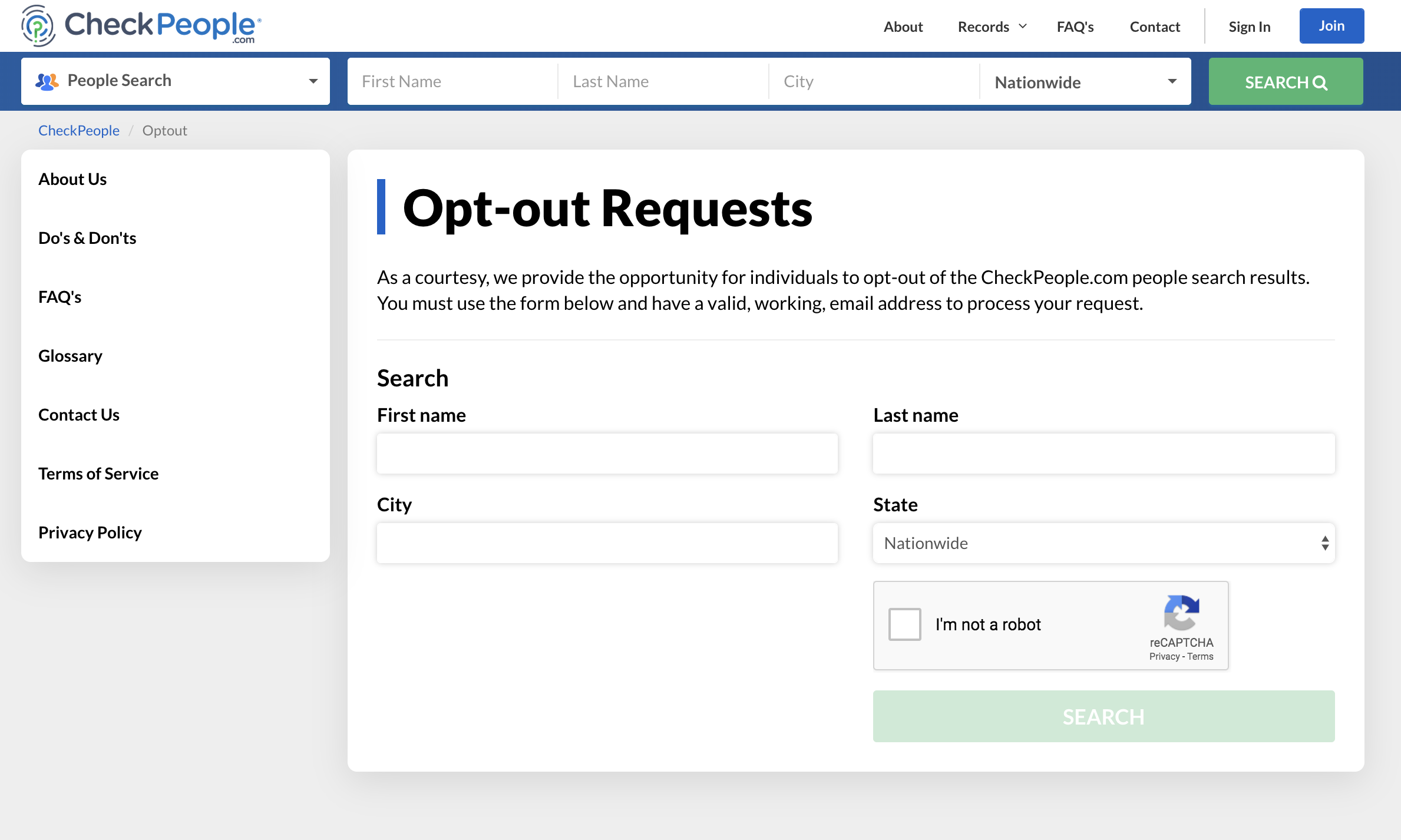 how to opt out of background check websites