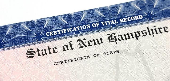 New Hampshire Birth Certificate