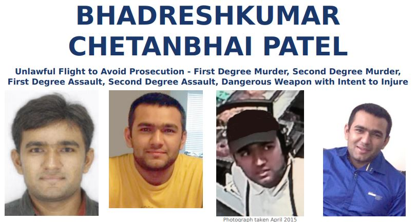 FBI Most Wanted BHADRESHKUMAR CHETANBHAI PATEL