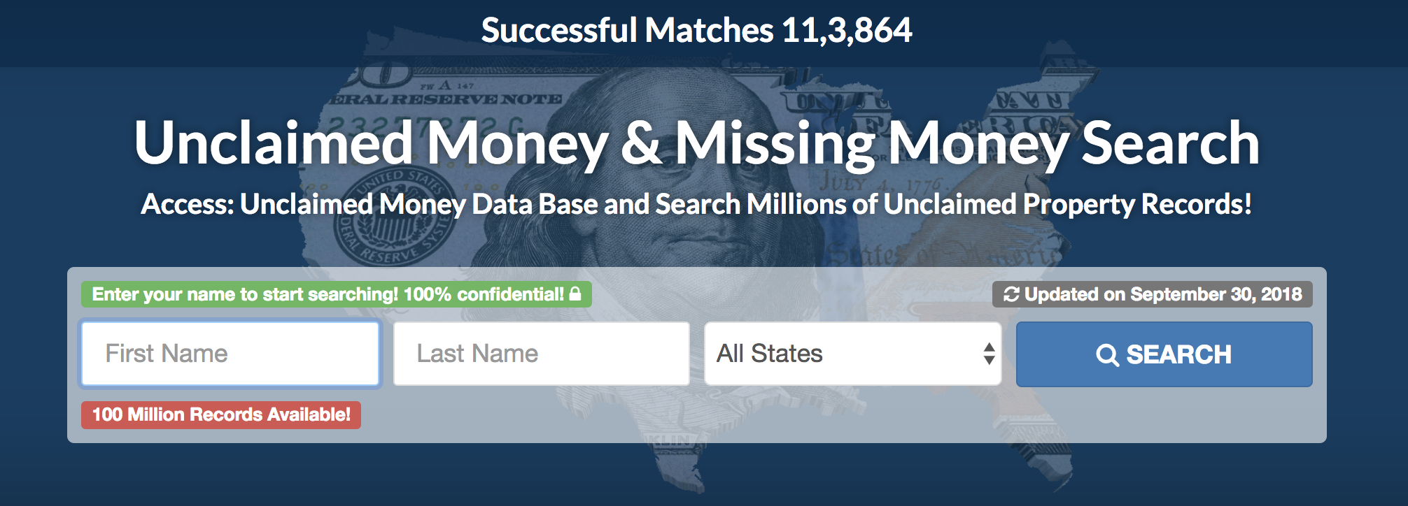 free unclaimed money search