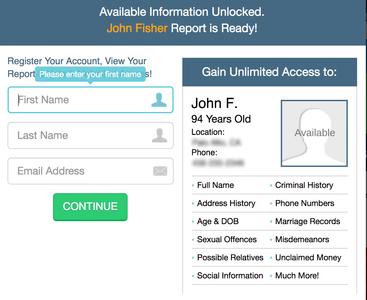background check signup