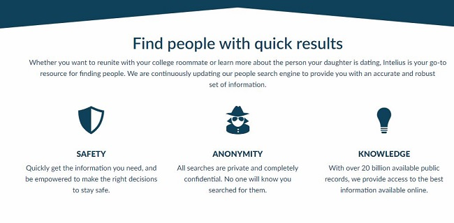 is intelius anonymous