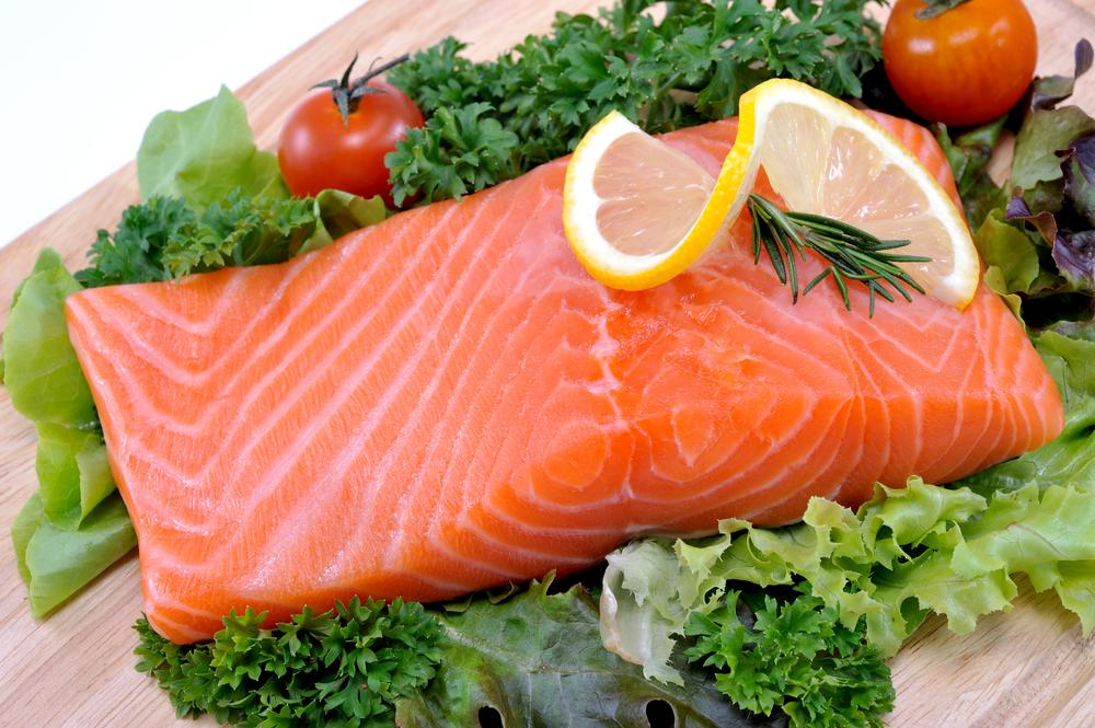 high fat food. fish