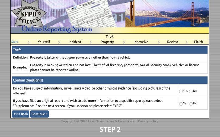 filing police report