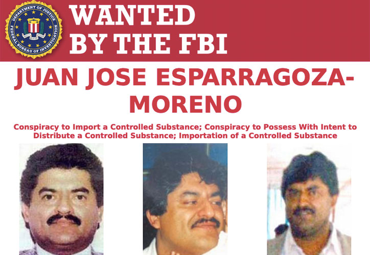 Most Wanted Fugitives by the FBI Juan Jose Esparragoza-Moreno
