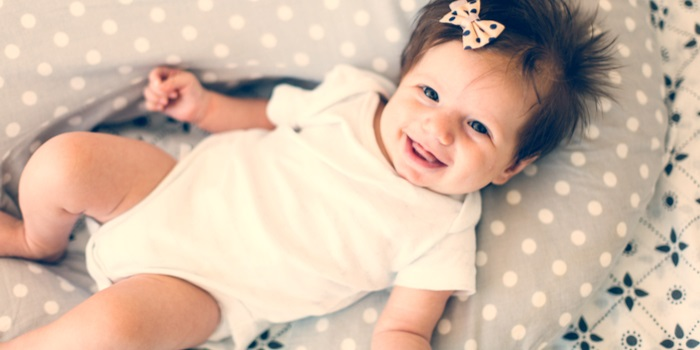 popular baby names baby girl smiling