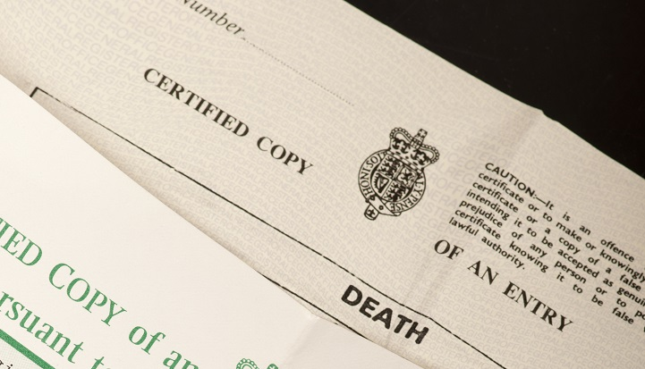 Online Death Records