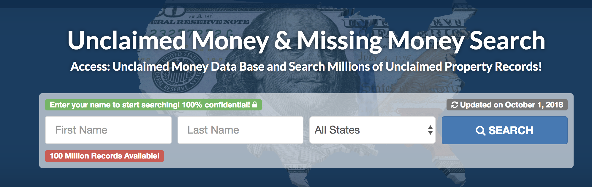 unclaimed money records