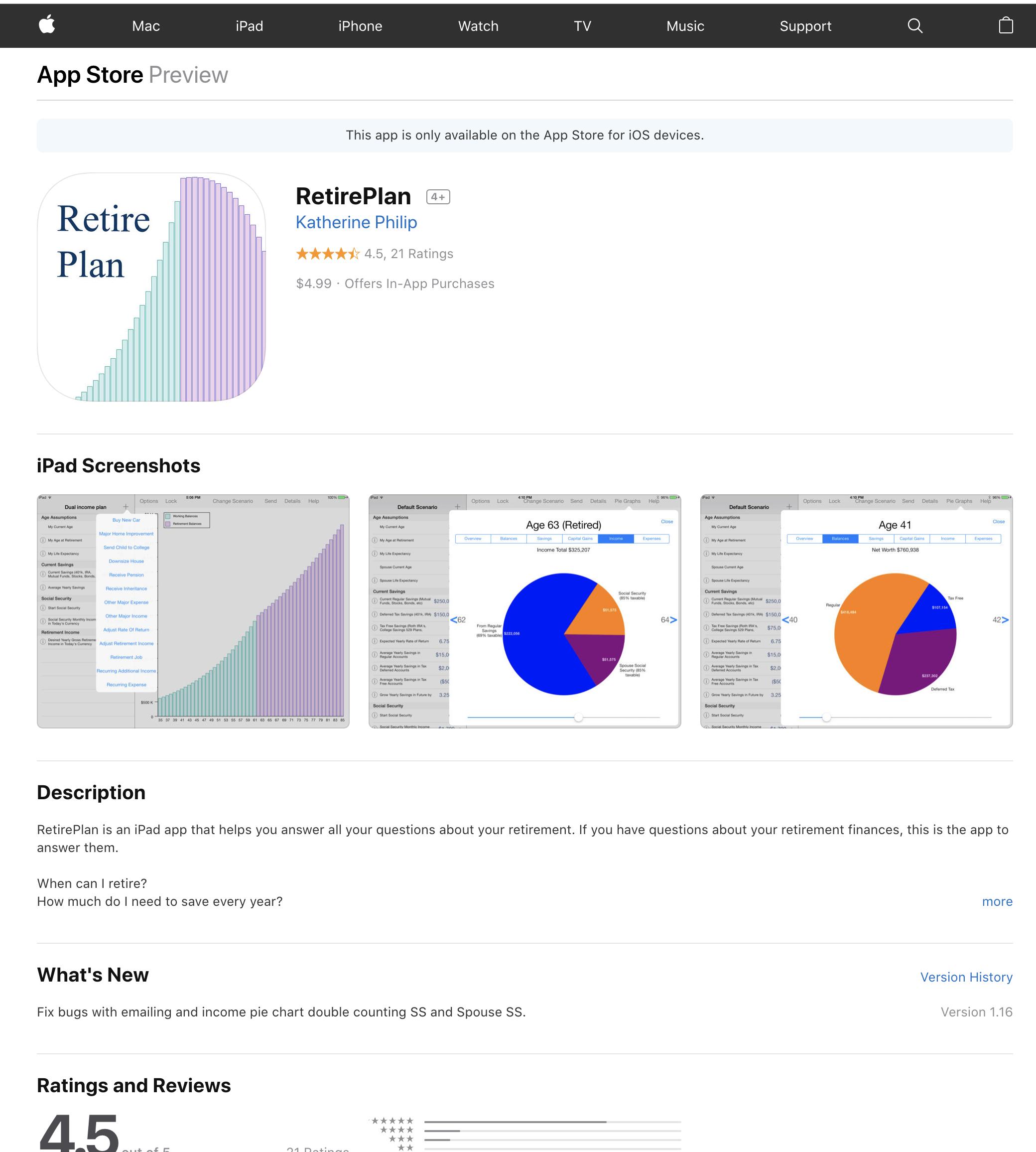 retire plan app