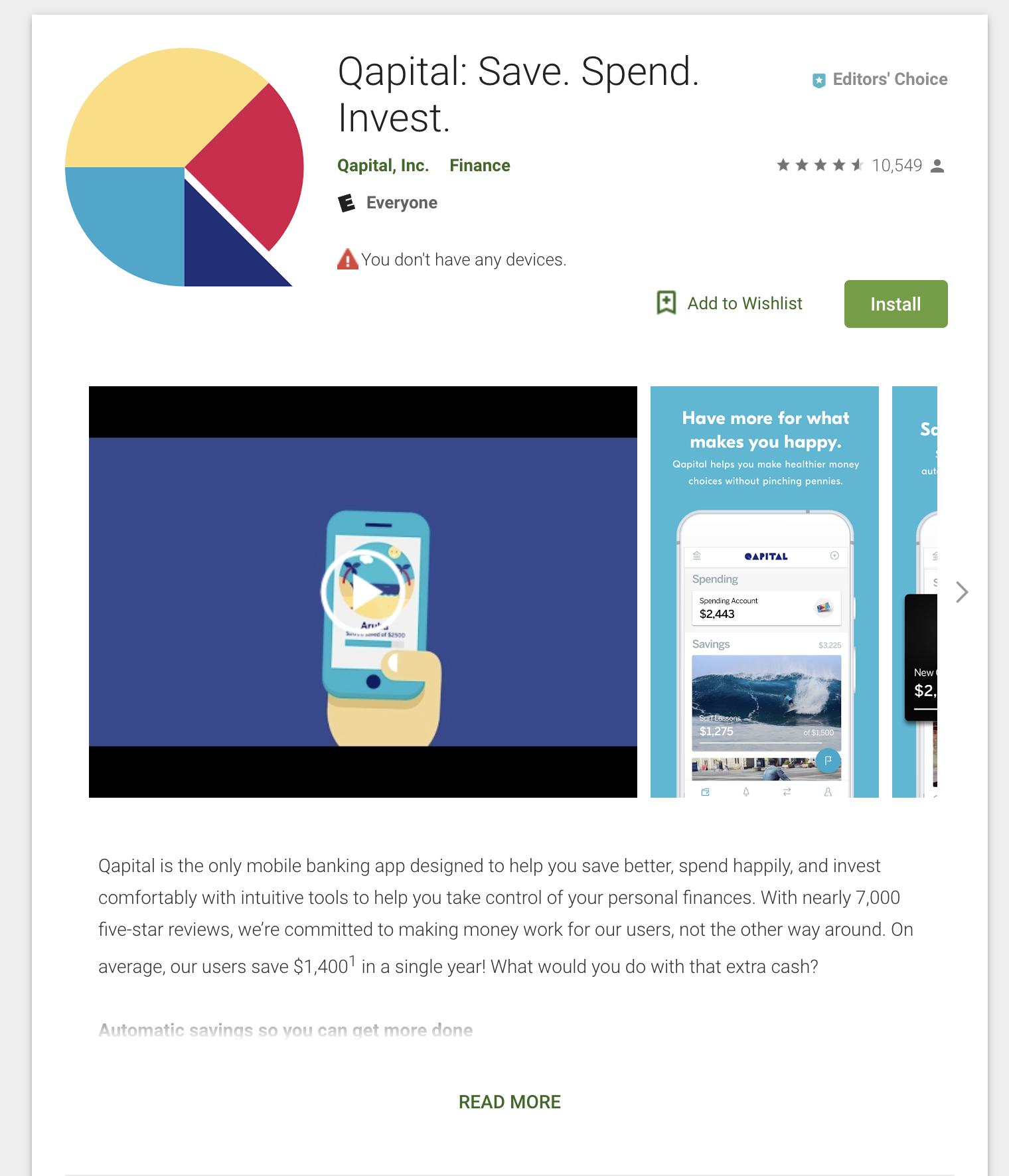 Qapital saving app